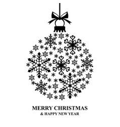 decorative snow ball vector image vector image
