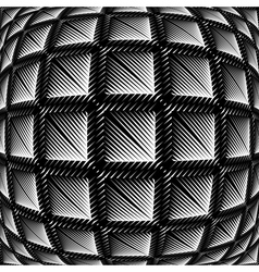 Design warped square convex pattern vector