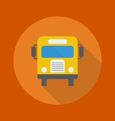 Education flat icon school bus vector