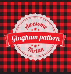 gingham pattern checkered seamless background vector image vector image