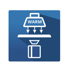 Industrial thermography icon vector