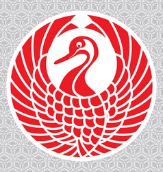 japanese crane vector image vector image