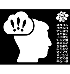 Problem brainstorm icon with tools bonus vector