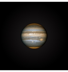 realistic planet Jupiter vector image