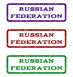 Russian federation watermark stamp vector