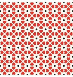 Seamless geometric pattern with hearts and dots vector image vector image