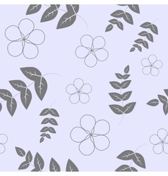 Seamless pattern branches with leaves and flowers vector image vector image