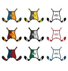 set of hockey sports crests vector image vector image