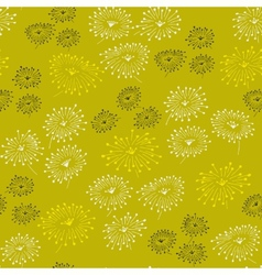 Spring seamless pattern with abstract flowers vector image vector image