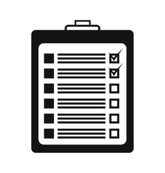 Survey form icon vector