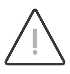Triangle caution icon vector