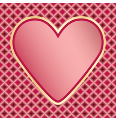 Valentines Day congratulation card vector image