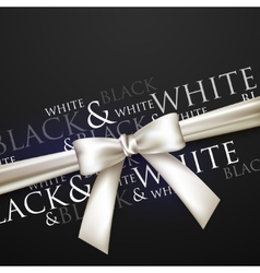 White bow on black background vector