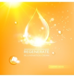 Regenerate face cream vector