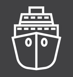 Cruise line icon travel and tourism vector
