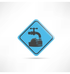 Blue sign wash your hands icon vector