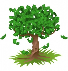 money growing on tree vector image