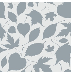 Seamless pattern with decorative falling leaves vector