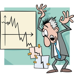 Economic crisis cartoon vector