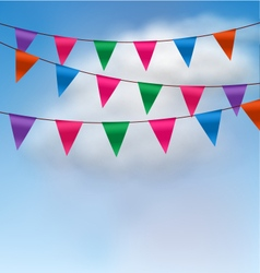 Multicolored buntings flags garlands vector