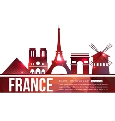 France travel background with place for text vector