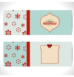 Christmas banner background with tags vector