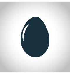 Egg flat black icon vector