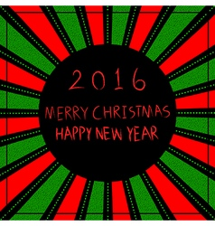 Merry christmas happy new year 2016 vector