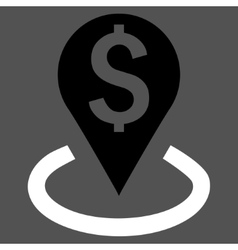 Bank location flat icon vector