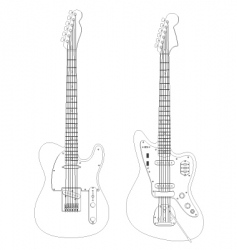 Isolated guitars vector