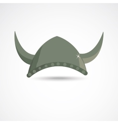 Ancient viking helmet vector