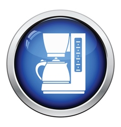 Kitchen coffee machine icon vector