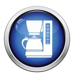 Kitchen coffee machine icon vector