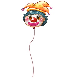 A clown balloon vector image