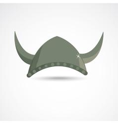 Ancient viking helmet vector image