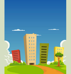 apartments and offices building vector image vector image