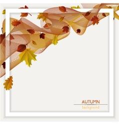 autumn frame decoration vector image