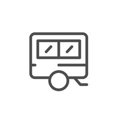 camper line icon vector image