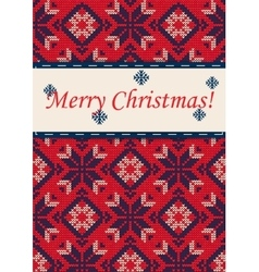 Christmas sweater 27 vector image vector image