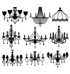 classic crystal glass antique elegant chandeliers vector image