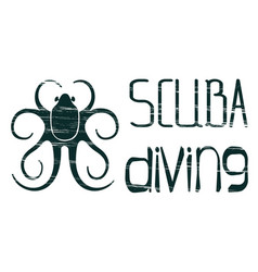design logo scuba diving vector image vector image