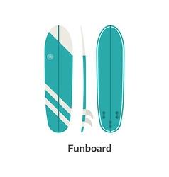 Funboard Surfing Desk vector image
