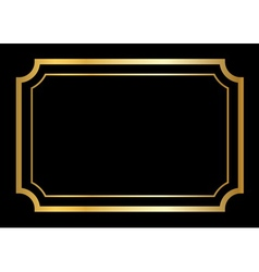 Gold frame beautiful simple design vector