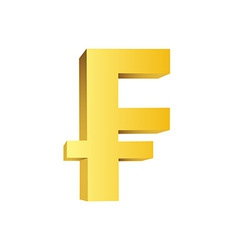 Golden currency symbol vector image