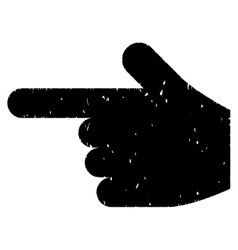 Hand pointer left grainy texture icon vector