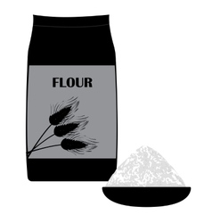 Icon of wheat flour vector