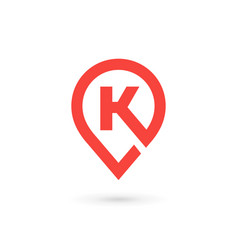 Letter k geotag logo icon design template elements vector
