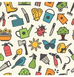 light pattern of garden accessories vector image