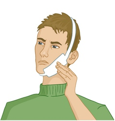 Man having teeth pain vector image