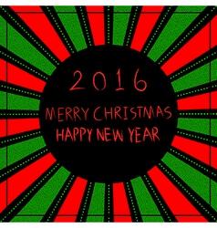 Merry christmas happy new year 2016 vector
